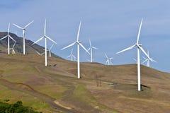 Энергия ветра восточный Вашингтон. Стоковое Изображение