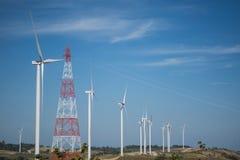 Энергия ветра на горе Стоковые Фото