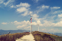 Энергия ветра на холме Стоковое Изображение RF