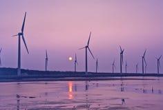 Энергия ветра побережья Тайваня стоковое изображение