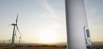 Энергия ветра стоковая фотография