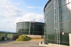 Энергия зеленого цвета bioga в чехии стоковые изображения rf