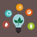 Энергия зеленого цвета Eco Стоковые Изображения