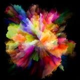 Энергия красочного взрыва выплеска краски стоковое изображение rf