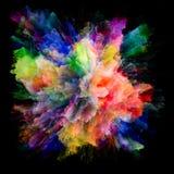 Энергия красочного взрыва выплеска краски стоковые фотографии rf