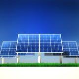 энергия обшивает панелями солнечное способное к возрождению Иллюстрация штока