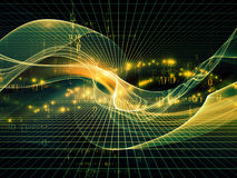 Энергия областей фрактали Стоковое Изображение