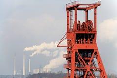 Энергия от угля, башни colliery стоковые изображения rf