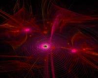 Энергия плаката тайны художественного произведения хаоса цифров абстрактная, футуристическая фантазия дизайна стоковые фотографии rf