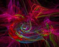 Энергия плаката художественного произведения хаоса цифров абстрактная, фантазия дизайна обоев футуристическая стоковое фото rf