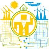 энергия принципиальной схемы сохраняет иллюстрация штока