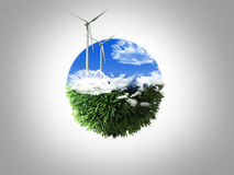 энергия принципиальной схемы Стоковые Изображения