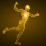 Энергия пробивая человека Стоковая Фотография