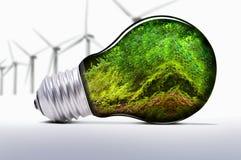 энергия способная к возрождению Стоковые Фотографии RF