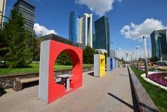 Энергия человека фестиваля 2016 искусства Астаны на экспо 2017 в Астане Стоковое фото RF