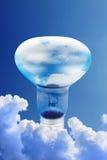 энергия шарика воздуха получая небо иллюстрация вектора