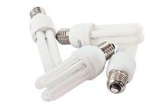 Энергосберегающие электрические лампочки Стоковое Изображение