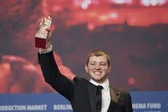 Энтони Bajon, победитель серебряного медведя для самого лучшего актера на Berlinale 2018 стоковые изображения