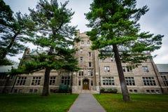 Эндовер Hall, на Гарвардском университете, в Кембридже, Массачусетс Стоковое Фото