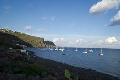 Эоловы острова Италии Сицилии, остров Alicudi стоковая фотография rf