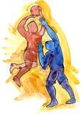 Эпизод волейбола стоковое фото