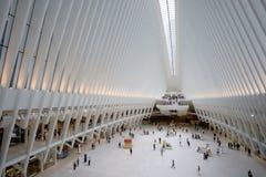 Эпицентр деятельности и станция транспорта всемирного торгового центра Oculus стоковое изображение