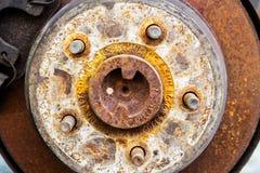 Эпицентр деятельности колеса автомобиля Стоковое Фото