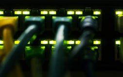 Эпицентр деятельности переключателя раздатчика LAN стоковые изображения