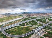 Эпицентр деятельности соединения городка Xiamen Binhai новый, Китай Стоковая Фотография RF