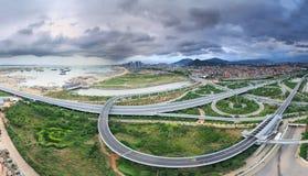 Эпицентр деятельности соединения городка Xiamen Binhai новый, Китай Стоковые Фото