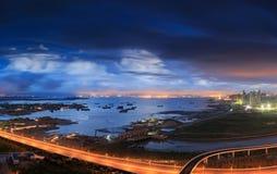 Эпицентр деятельности соединения городка Xiamen Binhai новый, Китай Стоковое Изображение RF