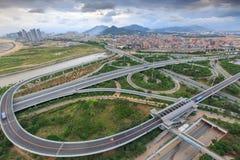 Эпицентр деятельности соединения Xike городка Xiamen Binhai новый, Китай Стоковые Фотографии RF