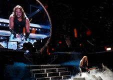 Эрик Адамс Manowar в концерте Стоковое Изображение