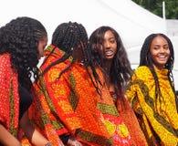 Эритрейские танцоры стоковое изображение