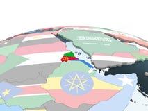 Эритрея с флагом на глобусе бесплатная иллюстрация