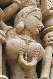 Эротичная каменная скульптура Стоковые Изображения RF