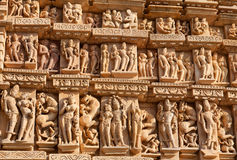эротичный известный висок khajuraho Индии Стоковое Изображение