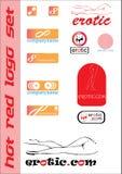 эротичный комплект логоса стоковые фото