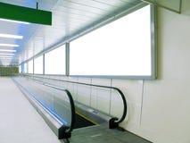 эскалатор афиши пустой Стоковые Изображения RF