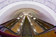 эскалатор moscow подземный Стоковая Фотография RF