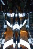 Эскалаторы торгового центра Стоковые Изображения