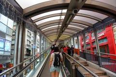 Эскалатор Средний-уровней централи, остров Гонконга Стоковые Фотографии RF