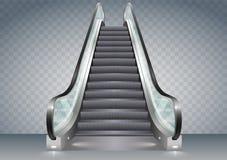 Эскалатор с ясным стеклом Стоковое Изображение RF