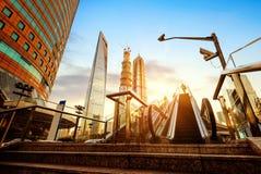 Эскалатор улиц Шанхая стоковые фотографии rf