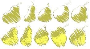 Эскизы груш Стоковые Фотографии RF