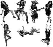 Эскизы женщины иллюстрация вектора