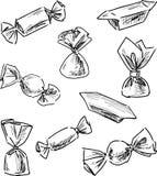 Эскизы различных помадок Стоковая Фотография