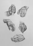 Эскизы рук Стоковая Фотография RF