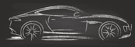 Эскиз автомобиля спорт Стоковое Изображение