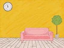 Эскиз акварели мебели иллюстрация штока